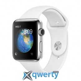 Apple Watch Series 2 42mm Stainless Steel Case with White Sport Band (MNPR2) купить в Одессе