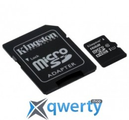 Kingston 16GB microSDHC C10 UHS-I R45/W10MB/s + SD адаптер(SDC10G2/16GB)