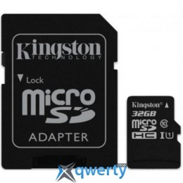 Kingston 32GB microSDHC C10 UHS-I R45/W10MB/s + SD адаптер(SDC10G2/32GB)