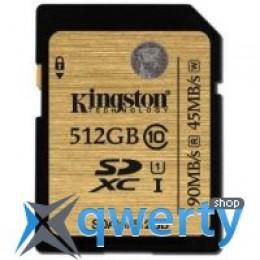 Kingston 512GB SDXC C10 UHS-I R90/W45MB/s(SDA10/512GB)