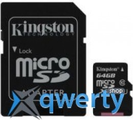 Kingston 64GB microSDXC C10 UHS-I R45/W10MB/s + SD адаптер(SDC10G2/64GB)