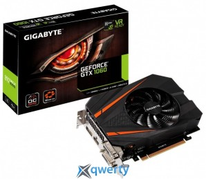 Gigabyte PCI-Ex GeForce GTX 1060 Mini ITX OC 6GB GDDR5 (192bit) (1531/8008) (2 x DVI, HDMI, Display Port) (GV-N1060IXOC-6GD)