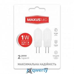 LED лампа MAXUS G4 1W 4100K 12V AC/DC (2-LED-206)