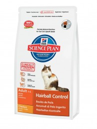 Hills SP Feline Adult Hairball Control с курицей 0,3 кг