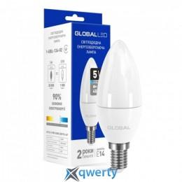 GLOBAL C37 CL-F 5W яркий свет 4100К 220V E14 AP (1-GBL-134-02)