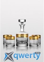Barline набор для виски Kostka золото (4+1)