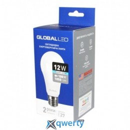 GLOBAL A60 12W яркий свет 4100K 220V E27 AL (1-GBL-166-02)