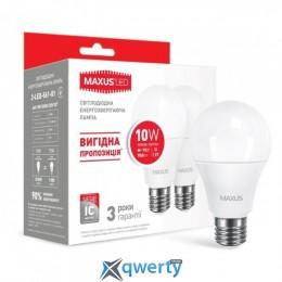 MAXUS A60 10W мягкий свет 220V E27 (по 2 шт.) (2-LED-561-01)