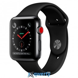 Apple Watch Series 3 GPS + LTE MQK92 42mm Space Black Stainless Steel Case with Black Sport Band
