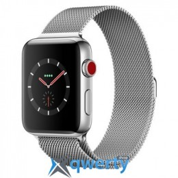 Apple Watch Series 3 GPS + LTE MR1J2 42mm Stainless Steel Case with Milanese Loop