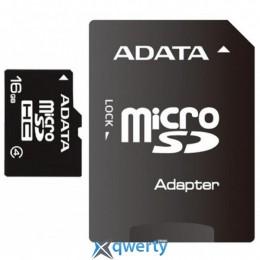 ADATA 16GB microSDHC C4 + SD адаптер (AUSDH16GCL4-RA1)