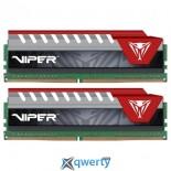 PATRIOT DDR4-2800 16GB PC4-22400 (2x8) Patriot V Elite Black/Red (PVE416G280C6KRD)