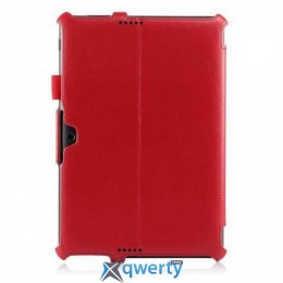Classic Slim Stand Leather Case for Asus MeMo Pad HD 10 ME102A - Red