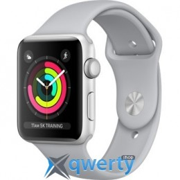 Apple Watch Series 3 GPS MQL02 42mm Silver Aluminum Case with Fog Sport Band