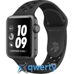 Apple Watch Series 3 Nike+ GPS MQKY2 38mm Space Gray Aluminum Case with Anthracite/Black Nike Sport Band