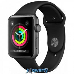 Apple Watch Series 3 GPS MQKV2 38mm Space Gray Aluminum Case with Black Sport Band