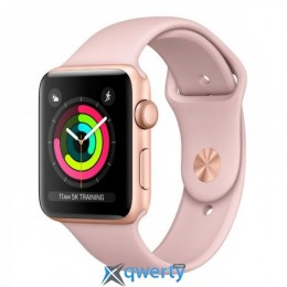 Apple Watch Series 3 GPS MQKW2 38mm Gold Aluminium Case with Pink Sand Sport Band