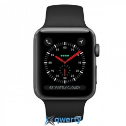Apple Watch Series 3 GPS MQL12 42mm Space Gray Aluminum Case with Black Sport Band