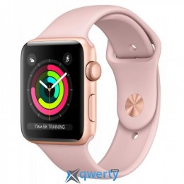 Apple Watch Series 3 GPS MQL22 42mm Gold Aluminium Case with Pink Sand Sport Band