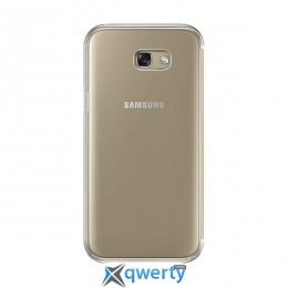 Samsung Clear View Cover для смартфона Galaxy A7 2017 (A720) Gold
