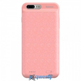 Чехол Plaid Backpack Power Bank Case 3650MAH For iPhone 7 Plus Pink