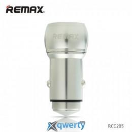 ЗУ автомобильное Remax Bullet RCC-205 3.1A 2*USB silver купить в Одессе