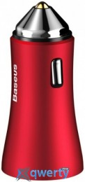 Baseus Golden Contactor Dual U Intelligent Car Charger Red (CCALL-DZ09)