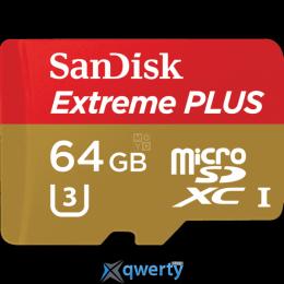 Карта пам'ятi SanDisk 64GB microSDXC V30 UHS-I R95/W90MB/s 4K Extreme Plus + SD SDSQXWG-064G-GN6MA купить в Одессе