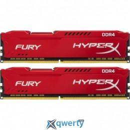 Kingston DDR4-2666 16GB PC4-21300 (2x8) HyperX Fury Red (HX426C16FR2K2/16)
