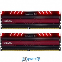 Team Delta DDR4-2400 32GB PC-19200 (2x16) Red LED (TDTRD432G2400HC15BDC01)