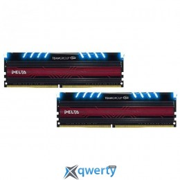 Team Delta DDR4-2400 32GB PC-19200 (2x16) Blue LED (TDTBD432G2400HC15BDC01)