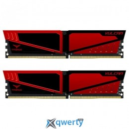 Team T-Force Vulcan DDR4-3200 16GB PC-25600 (2x8) Red HS (TLRED416G3200HC16CDC01)