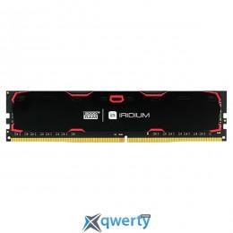 GOODRAM DDR4-2400 8GB PC-19200 Iridium Black (IR-2400D464L17S/8G)
