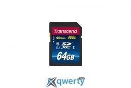 SDXC 64GB UHS-I Class 10 Transcend Premium (TS64GSDU1)