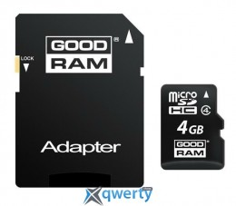 GOODRAM MicroSDHC 4GB Class 4 + SD-adapter (M40A-0040R11)