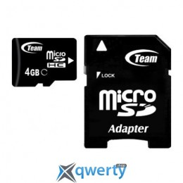 MicroSDHC 4GB Class 4 Team + SD-adapter (TUSDH4GCL403)