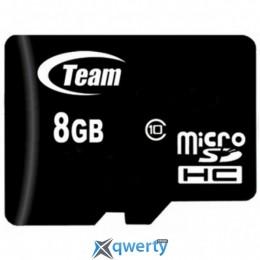 MicroSDHC 8GB Class 10 Team (TUSDH8GCL1002)