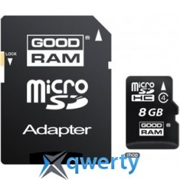 GOODRAM MicroSDHC 8GB Class 4 (M400-0080R11)