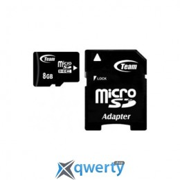 MicroSDHC 8GB Class 4 Team + SD-adapter (TUSDH8GCL403)