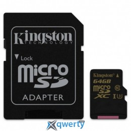 Kingston MicroSDXC 64GB UHS-I/U3 Gold + SD-адаптер R90/W45MB/s (SDCG/64GB)