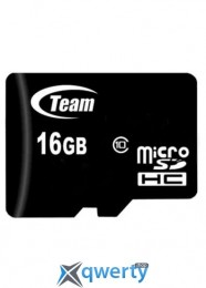 MicroSDHC 16GB Class 10 Team + SD-adapter (TUSDH16GCL1003)