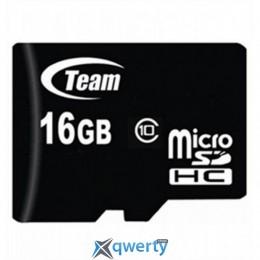 MicroSDHC 16GB Class 10 Team (TUSDH16GCL1002)