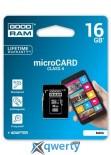 MicroSDHC 16GB Class 4 GOODRAM + SD adapter (M40A-0160R11)