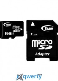 MicroSDHC 16GB Class 4 Team + SD-adapter (TUSDH16GCL403)