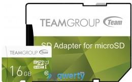 MicroSDHC 16GB UHS-I Team Color Green (TCUSDH16GUHS02)