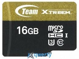 MicroSDHC 16GB UHS-I/U3 Class 10 Team Xtreem R90/W45MB/s + SD-adapter (TUSDH16GU303)