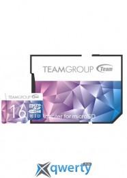 MicroSDHC 16GB UHS-I/U3 Team Color II + SD-adapter Purple/Blue (TCIIUSDH16GU349)