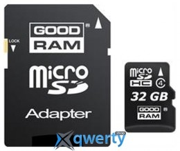 MicroSDHC 32GB Class 4 GOODRAM + SD-adapter (M40A-0320R11)