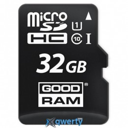 MicroSDHC 32GB UHS-I Class 10 GOODRAM + SD-adapter (M1AA-0320R11)