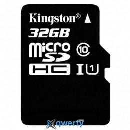 MicroSDHC 32GB UHS-I Class 10 Kingston + SD-adapter (SDC10G2/32GB)